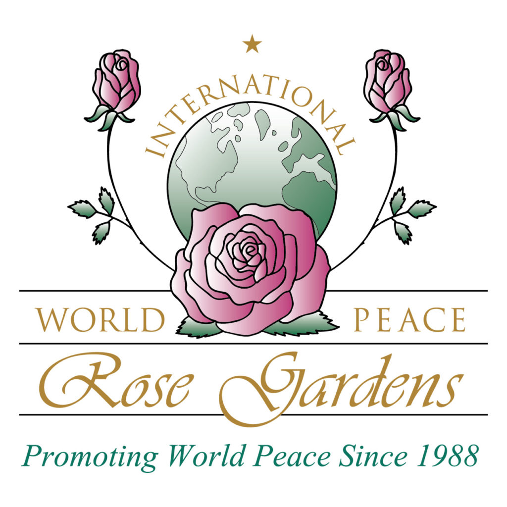 International world peace rose gardens logo