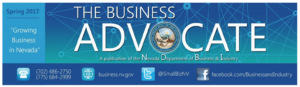 MYS highlighted The Business Advocate, the Nevada Department of Business and Industry, Nevada